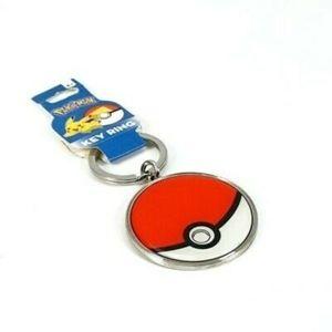 Pokemon Pokeball Keychain Key Chain Metal Key Ring